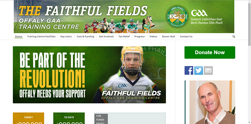 Offaly GAA Website for Centre of Excellence