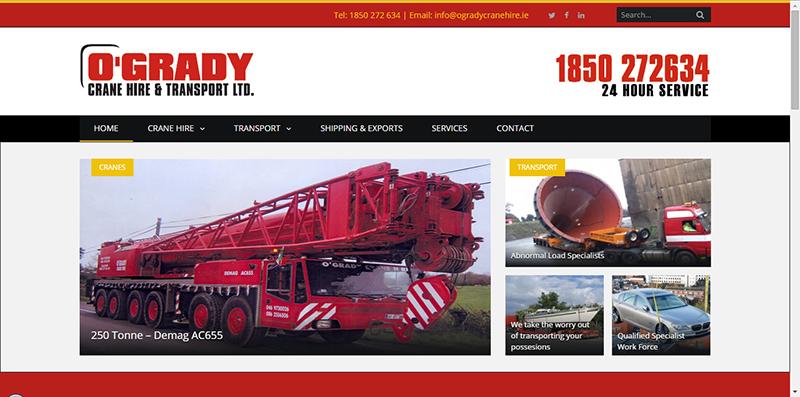 Crane Hire Website