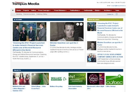 Tempus Media Website