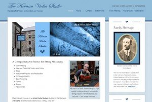 Responsive Website Design - Keenan Violin Studio