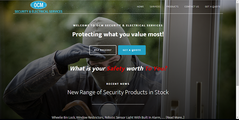 Security CCTV Company Website