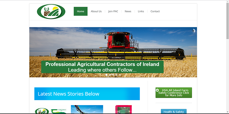 Website for PAC Ireland