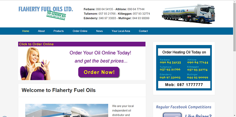 Web Desing for Flaherty Fuel Oils