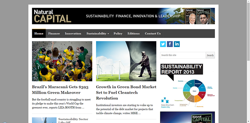 Web Design for Natural Capital News