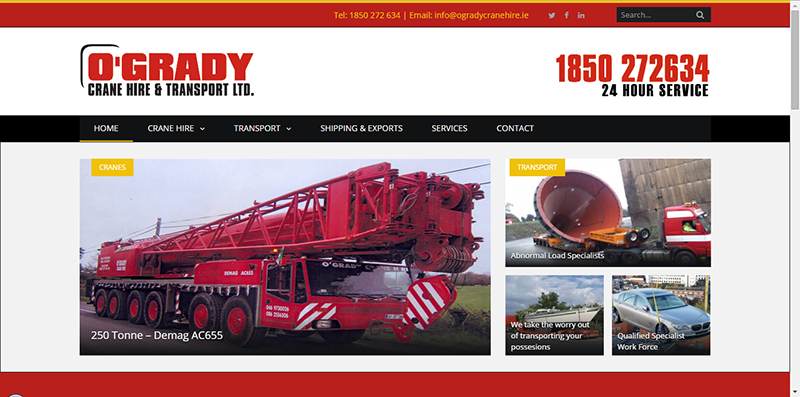 Crane Hire Website