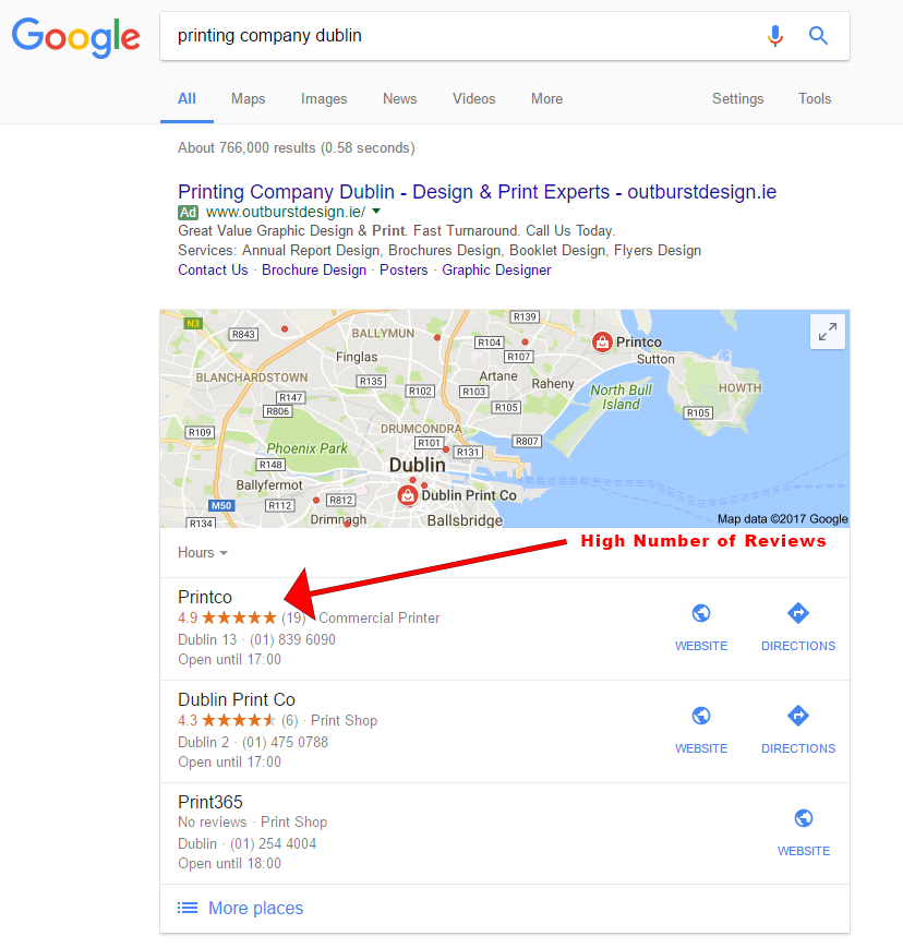 google reviews printers dublin