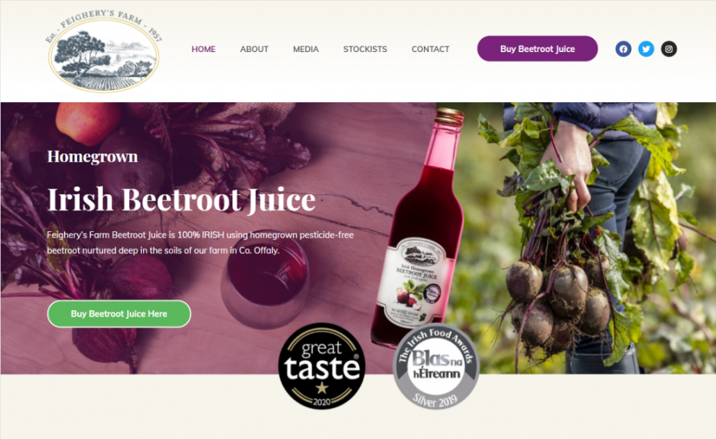 Creating a website for food producers