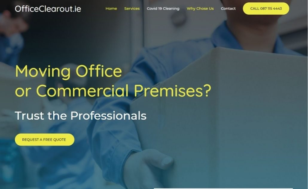Office Clearout Website Design